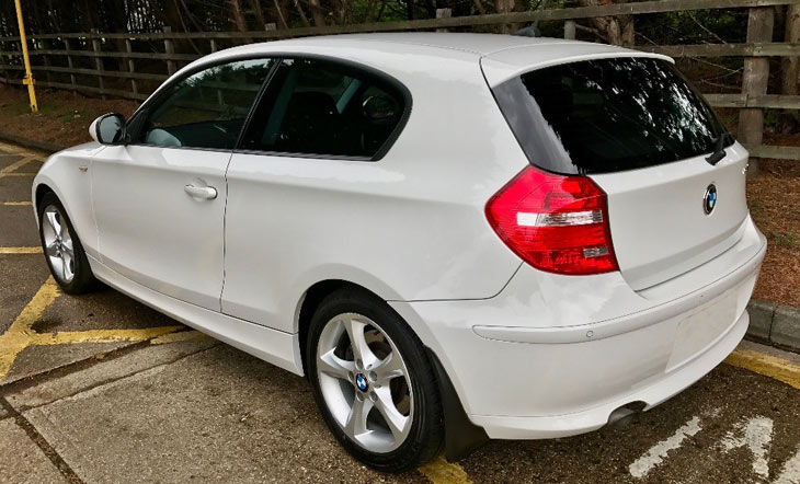 BMW 118d Rear View